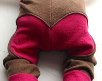 Baby Heart Bum  Longies - Wool Pants Diaper Cover