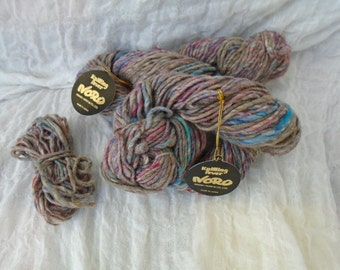 Noro Kosumosu wool silk hand knitting crochet yarn 2x50g 100g grey pastel flecks