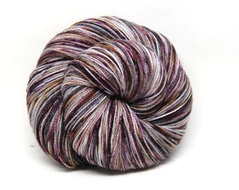 """Glam Rock Sparkle Sock Yarn - """"Whiskey and Wine""""-  Handpainted Superwash Merino - 438 Yards"""