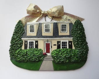 Custom listing for VKup-  two Custom House Ornaments- a cherished keepsake of your home