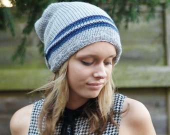 Slouch Hat, Mens Slouchy Hat, Womens Slouchy Hat, Knitted Slouchy Beanie, Hat, Fall Hat, Winter Accessory