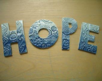 HOPE1 - HOPE Letters - Ceramic Mosaic Tiles