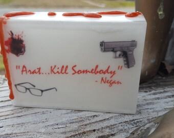 Walking Dead Soap - Arat Soap - Walking Dead Novelty Soap - AN AJSweetSoap Exclusive - Negan - Arat - Party Favor - zombie