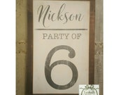 Handpainted Party of family sign