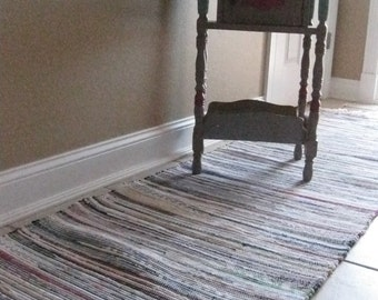 """Old fashioned multi rag rug 25"""" x 86"""""""