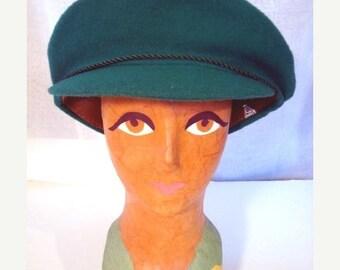 Sale Vintage 60s Cap in Green Sz S