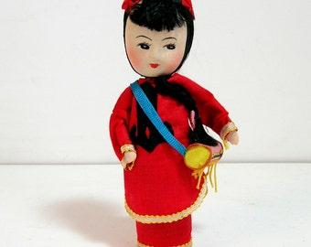 Oriental Drummer Girl Doll