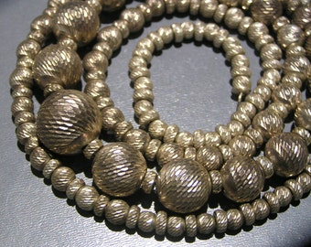 Necklace . Ball Beaded . Sterling silver jewelry