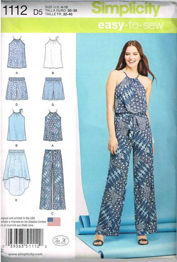 wide leg palazzo pants sleeveless top sewing pattern