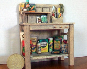 Gardener's Potting Bench  1:12 scale