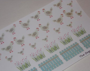 Chicken Stickers for your planner / crafting / stationary / scrapbooking