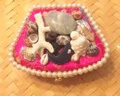 Seashell & Pearl Theme Jewelry Box Clutch