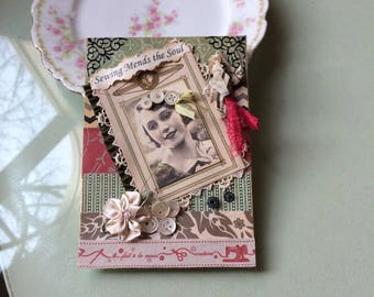 Sewing-themed Card - Seamstress Card - Vintage-style Crafter Card - Quilter Card