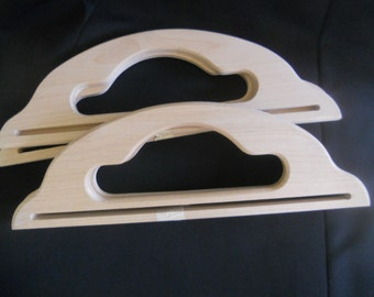 wooden purse handles, set of two wooden purse handles