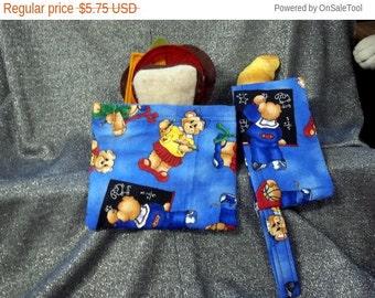 Sale 15% off Reusable Sandwich N Snack Bag Set,  School Bears Print