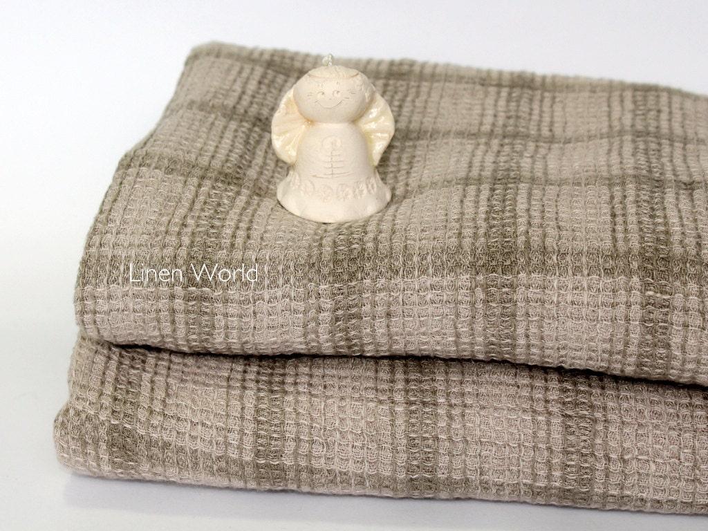 100/% Natural Waffle Weave Linen Sauna Bath TOWEL