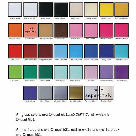 Sale Best Price Adhesive Vinyl Oracal 651 Vinyl Sheet