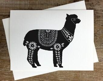 Alpaca - Greeting Card