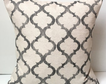 Decorative Pillow Cover Gray Black Beige Pillow Throw Pillow Cushion Accent Pillow Lattice Pillow