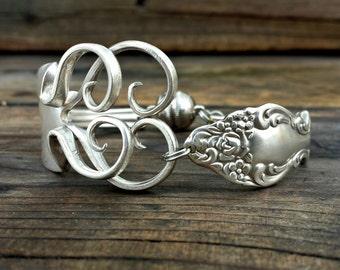 Antique Fork Heart Bracelet