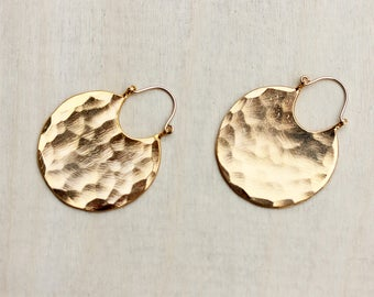 Gold Hoops, Round Gold Earrings, Geometric Earrings, Gold Earrings, Hammered Earrings, Hoop Earrings, Hoops, Gold Hoops, Hammered Hoops