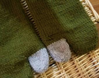 Forest Green Tabi Socks - Large
