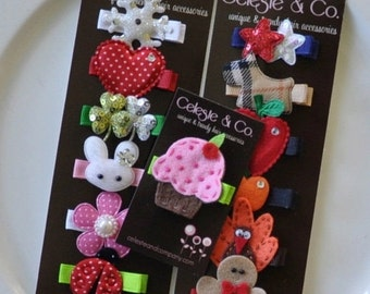 Baby Hair Bows - Baby Hair Clips - Toddler Hair Bows - Infant Hair Clips - Hair Bows - 12-Month Year Round
