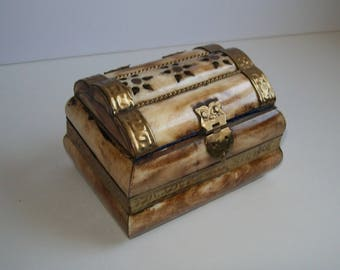 Brass and Bone Trinket Box