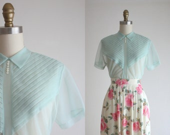 1950s seaglass blouse