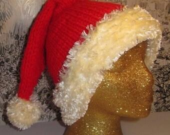 50% OFF SALE Instant Digital pdf download knitting pattern only-madmonkeyknits Ho Ho Ho Superfast Santa Hat pdf knitting pattern