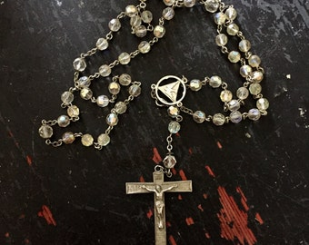 Rosary, Antique, shabby, french, Crystal, mannequin.
