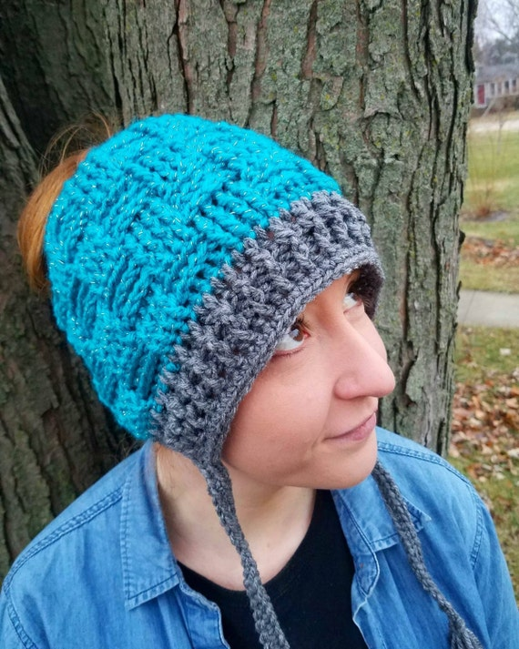 Bun Hat, Mom Messy Bun Hat, Messy Bun Beanie, Ponytail Hat, Crochet Ponytail Hat, Ponytail Beanie, Ponytail Hat Crochet, Viral Messy Bun