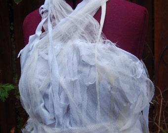 Bride of Frankenstein Mummy Wrap Crop Top Ready to Wear Size Large
