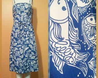 The Lilly Fish Print Dress / Lilly Pulitzer / Signed Lilly Dress / Summer Sundress