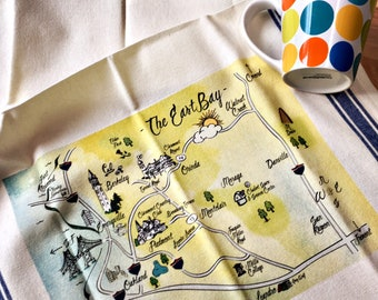 East Bay Map Kitchen/Tea Towel