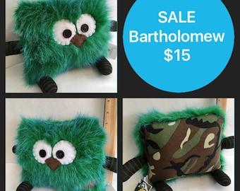 SALE Bartholomew the Pillow Pal Monster