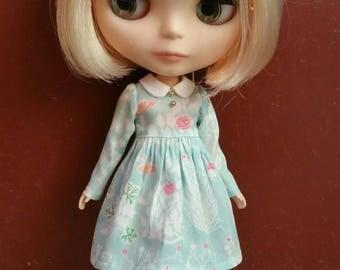 Sweet Little Girl dress for Blythe - Aqua