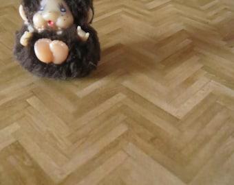 1/12 Scale Downloadable Printable Dollhouse Parquet Flooring Wallpaper