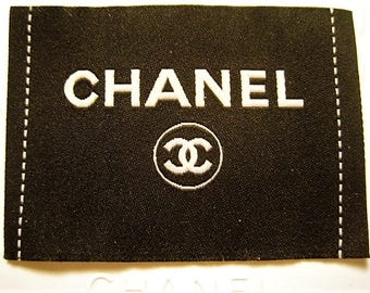Large Size Black Chanel CC Clothing Lable