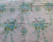 Vintage Destash single print sheet turquoise lilac purple blue
