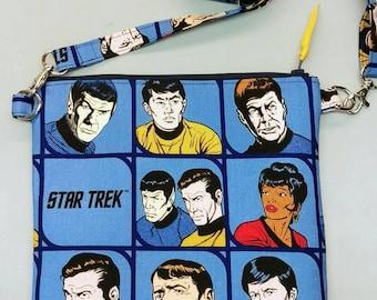 Star Trek blue purse messenger bag with adjustable strap