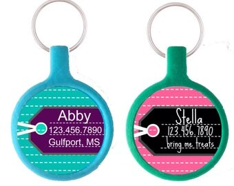 Luggage Tag-Inspired Pet ID Tag- More Colors