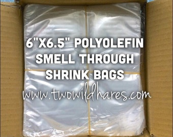 "500- 6""x6.5"" Polyolefin Shrink Bags (smell through)"