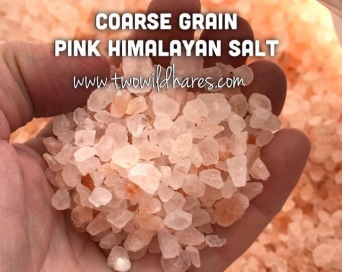 PINK HIMALAYAN Sea Salt, Coarse Grain, 3 or 6 lbs