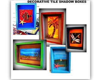 decorative tile decor ceramic decorative tiles shadow box shadow box frames wooden - Shadow Box Frames