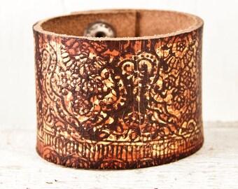 Leather Cuff Bracelets For Women - Rainwheel