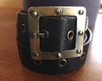 black belt with grommets