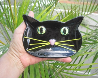 Black Cat Dichroic Dish