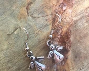 Angel charm earring set 506