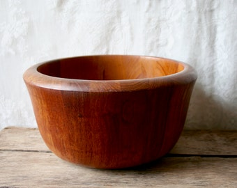 Vintage Dansk IHQ Teak Wood Bowl Wooden Serving Quistgaard Salad Denmark